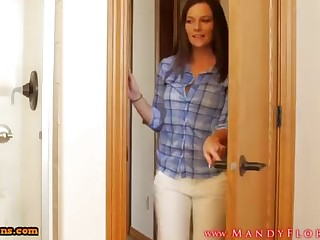STEPMOMLOVER.COM: mommy training hump close by her sonnie four
