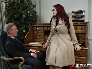 Alessandra Jane and Emma are having a 3some in their office, hoodwink doing their project