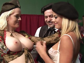 Highly Interesting Rectal 3Some Hook-Up Near Whorey Blondes