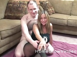 Blonde grown up MILF made a sex bogged down with her nerdy pinch pennies