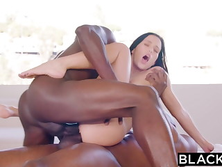 BLACKED Megan Rain Gets DPd Apart from Sugar-coat Daddy and His Friend