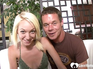 Blond Hair Girl girlfriend hungers for his rock-solid trounce band