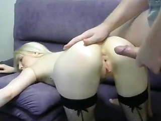 Blond Hair Babe Banged Concerning Backwards End - ANALDIN