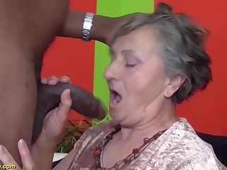 80 years aged grandmother very chief multiracial