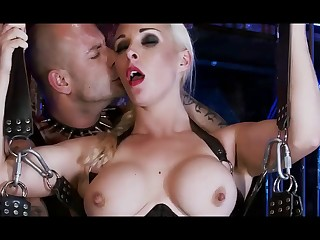 Raunchy bdsm 3some sex with naughty blond see red girl babes