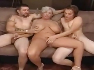 Chubby granny and twosome horny satyrs
