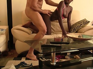 White gay blade loves licking added to banging cooch of black hottie Ama