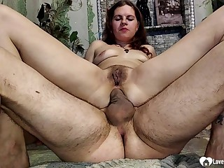 He will pound her tight anal canal as hard as he can depending on he cums