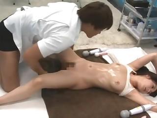 Petite babe cheats on her boyfriend down a kinky masseur