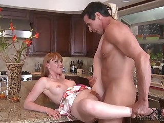 marie mccray & peter north - hot kitchen sex