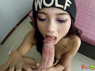 Asian chick with small tits Monkey feels precise about riding cock