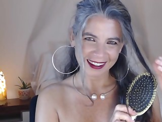 Super Granny shows her body out of reach of webcam