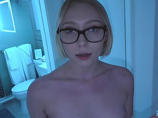 Gold digger stepsister Athena May shows gift be worthwhile for her deep throat plus wet cunt