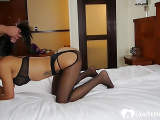 Incredible stepmom surrounding lingerie gets a hard knob